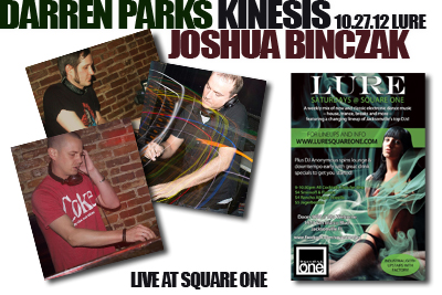 Darren Parks, Kinesis and Joshua Binczak (Live at Lure) 10.27.12